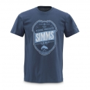 SIMMS T-Shirt Trademark Navy